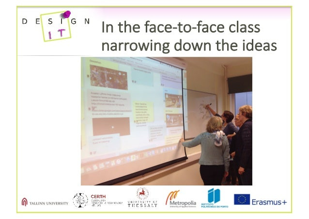 Intheface-to-faceclass narrowingdowntheideas