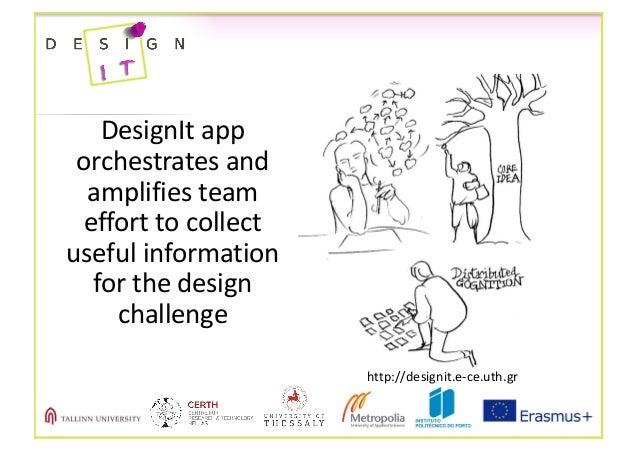 DesignIt app orchestratesand amplifiesteam efforttocollect usefulinformation forthedesign challenge http://de...