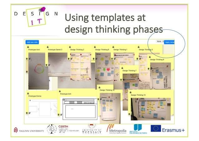 Usingtemplatesat designthinkingphases