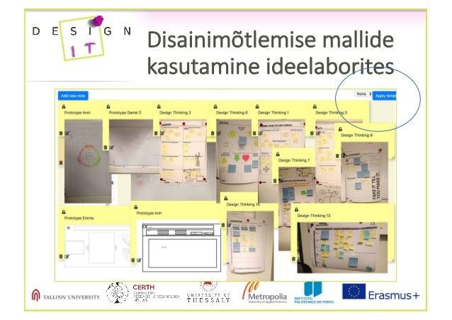 Disainimõtlemise mallide kasutamine ideelaborites