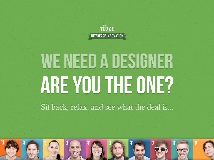 Ribot need a designer - are you the one?