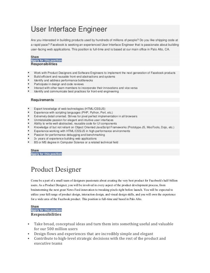 User Interface Engineer    Are you interested in building products used by hundreds of millions of people? Do you like shi...