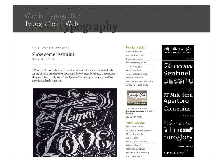 Was ist Typografie?Typografie im Web<br />