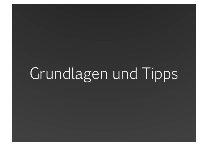 Grundlagen und Tipps<br />