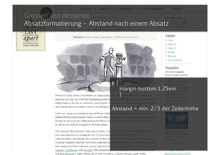 Grundlagen und TippsGrössen und Abstände<br />«Mut zur Lücke»<br />