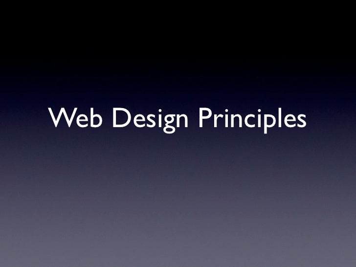 Web Design Principles      Scot Hacker, Josh Williams