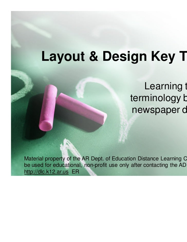 Layout & Design Key Terms                                             Learning the                                        ...