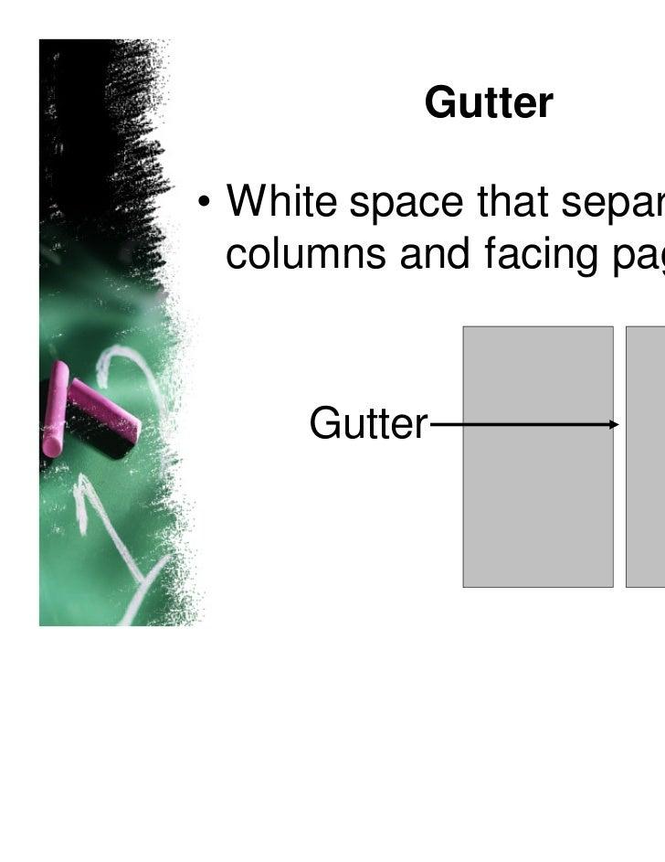 Newspaper Design key terms Slide 2