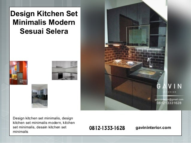 Design Kitchen Set Minimalis Modern 2018