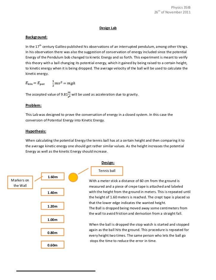 physics practical report