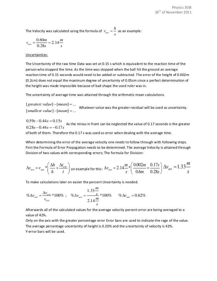 lab report format physics sample