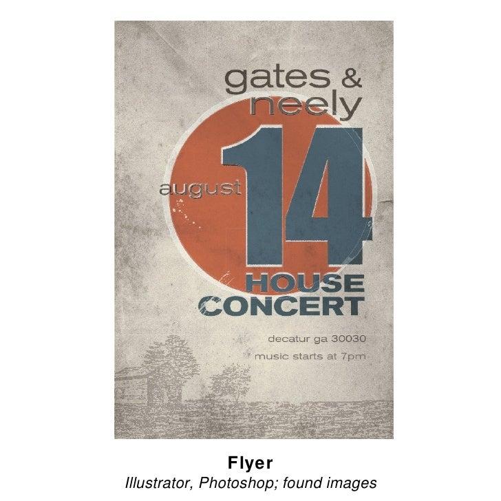 Flyer Illustrator, Photoshop; found images