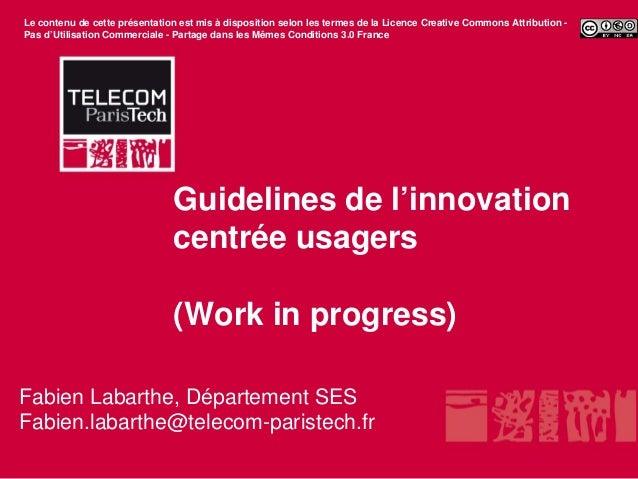 Le contenu de cette présentation est mis à disposition selon les termes de la Licence Creative Commons Attribution -Pas d'...