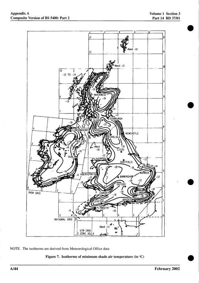 Appendix A Composite Version of BS 5400: Part 2 Volume 1 Section 3 Part 14 BD 37/01 NATIONAL GRID 1 1AbOUl -11 UTM GRID 3 ...