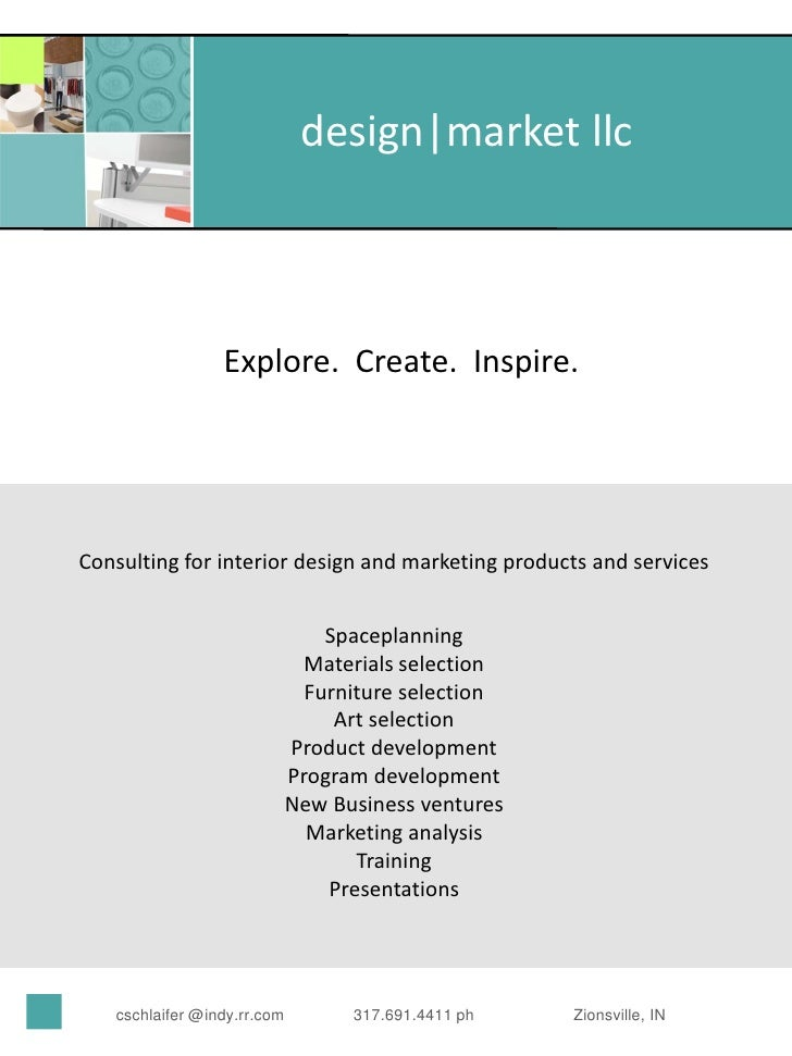 design market llc                     Explore. Create. Inspire.     Consulting for interior design and marketing products ...