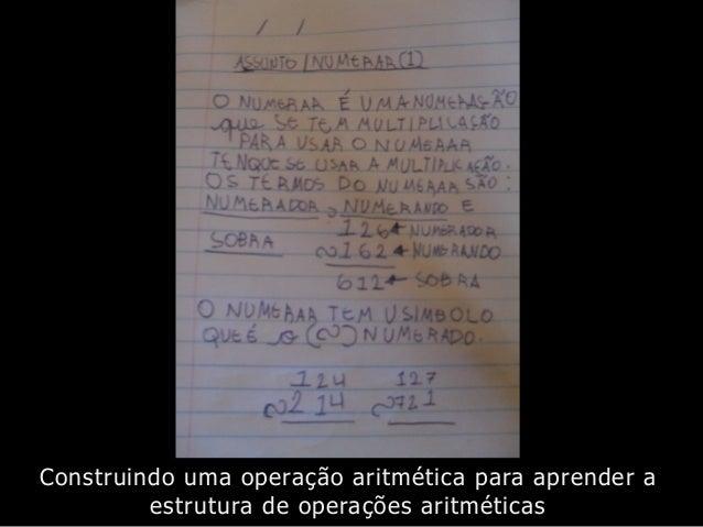 Construindo uma operação aritmética para aprender a estrutura de operações aritméticas