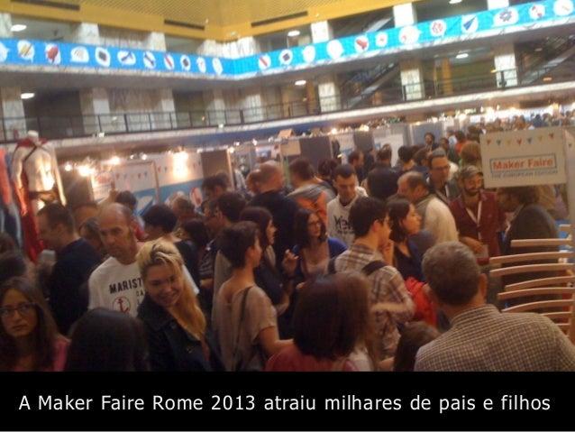 A Maker Faire Rome 2013 atraiu milhares de pais e filhos