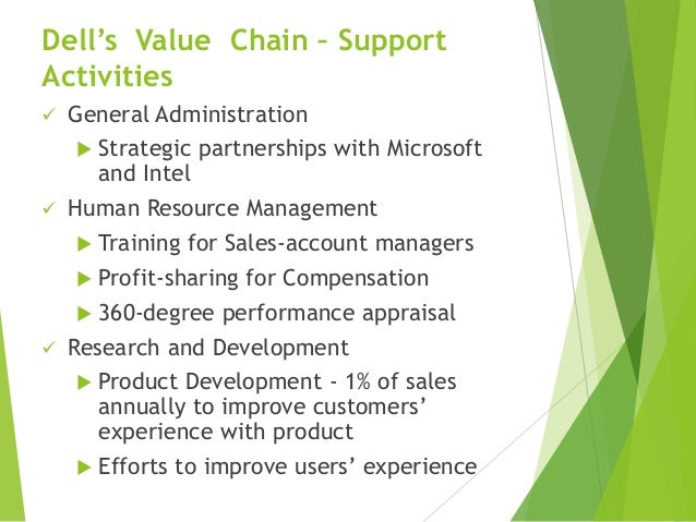 dell value chain The latest four to join include cisco, dell technologies (including dell  value  chain between our suppliers, our customers and ourselves.