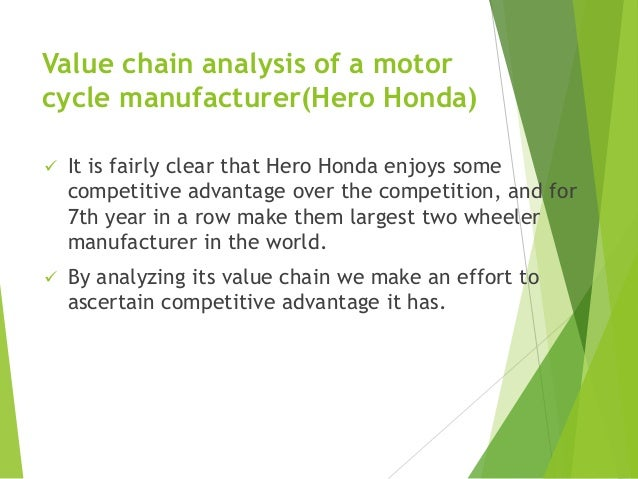 honda value chain analysis