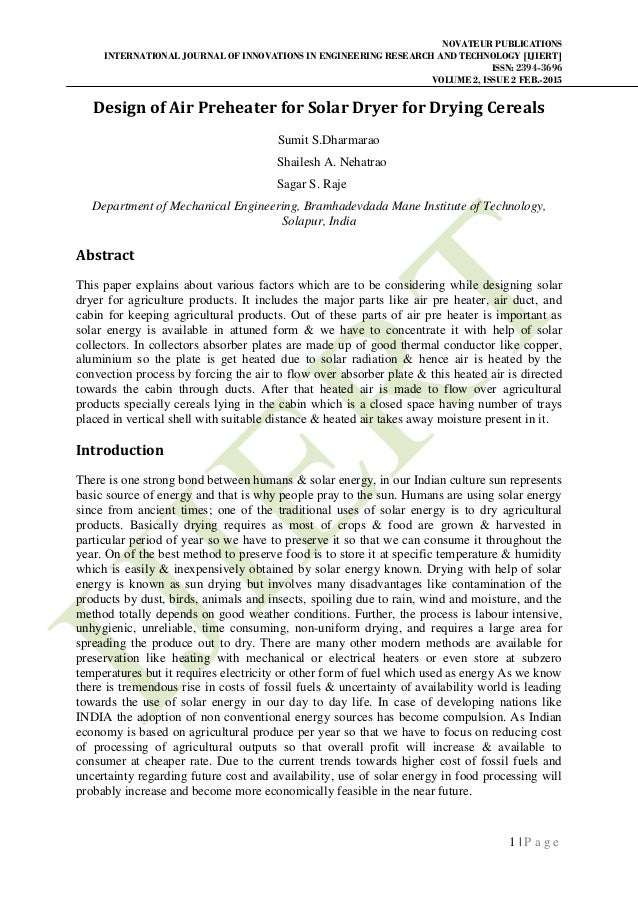 NOVATEUR PUBLICATIONS INTERNATIONAL JOURNAL OF INNOVATIONS IN ENGINEERING RESEARCH AND TECHNOLOGY [IJIERT] ISSN: 2394-3696...