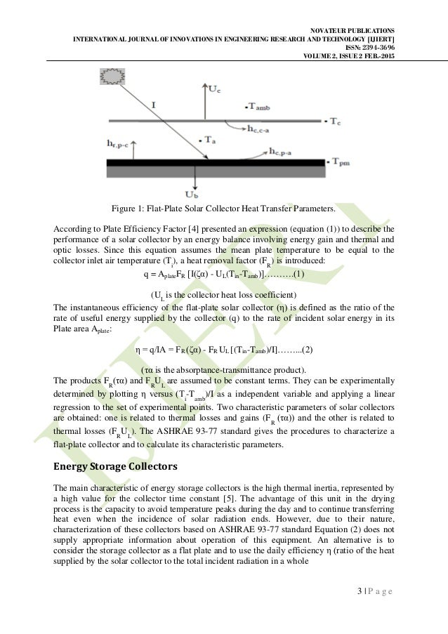 Design of air preheater for solar dryer for drying cereals Slide 3