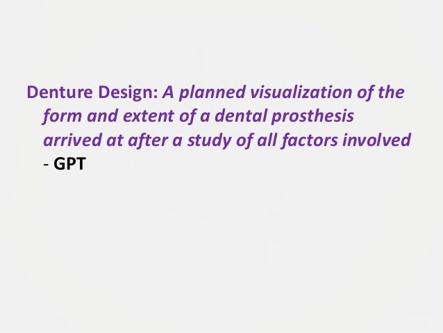 Designing a Removable Partial Denture (Kennedy's Classification) Slide 2
