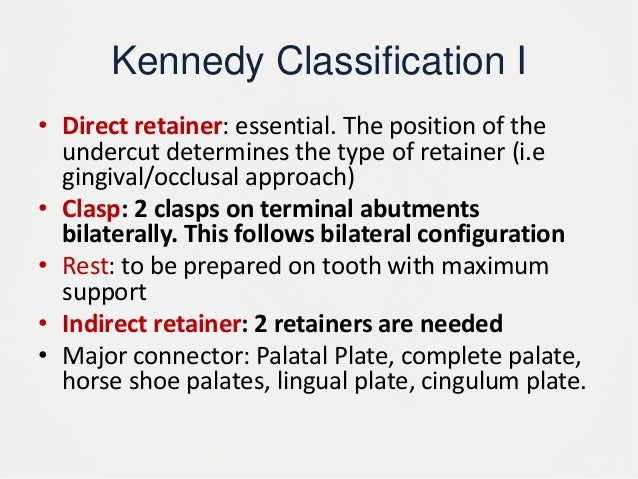 kennedy classification