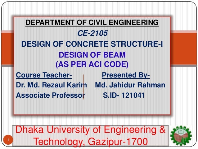 Design Procedure of Singly,Doubly & T-Beam(As Per ACI code)