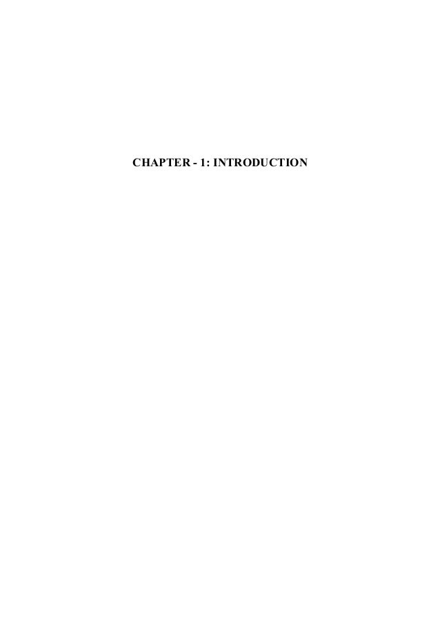 CHAPTER - 1: INTRODUCTION