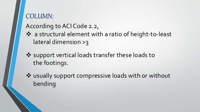 Design of column according ACI codes Slide 2