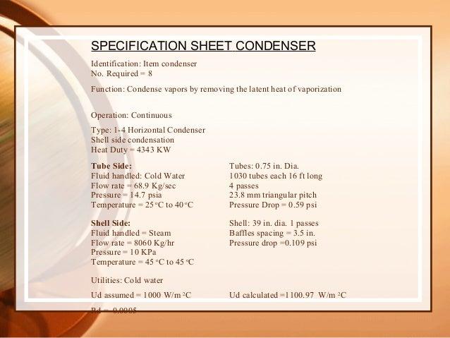 Design Of Condenser