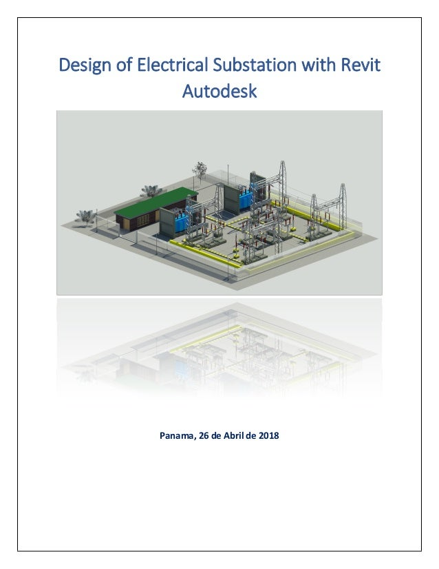 Design of electrical substation with revit autodesk