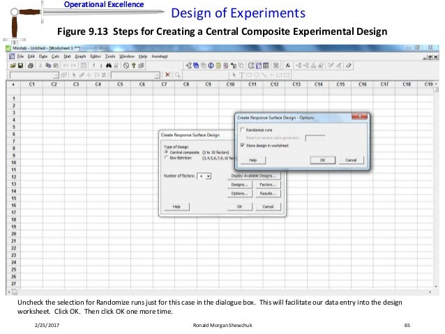 Design of Experiments – Design an Experiment Worksheet