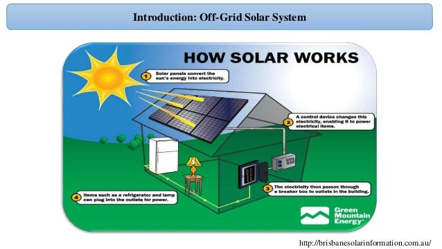 Design off grid solar PV system