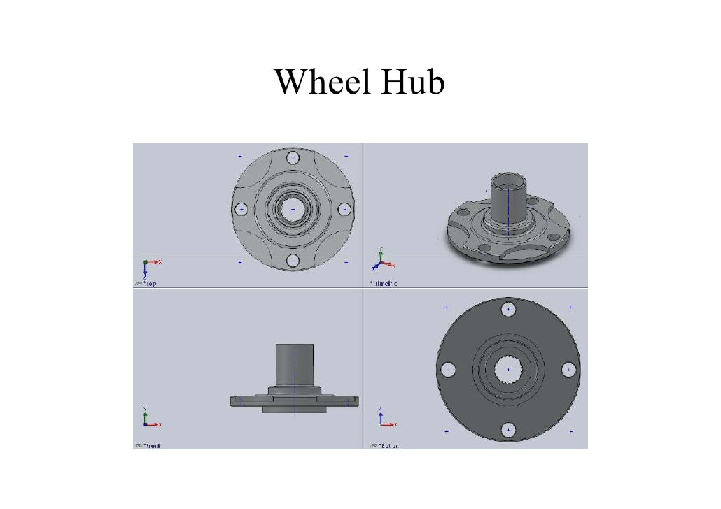 Hub Design design of half shaft and wheel hub assembly for racing car