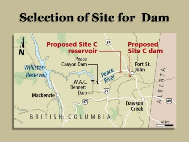 Selection of Site for Dam