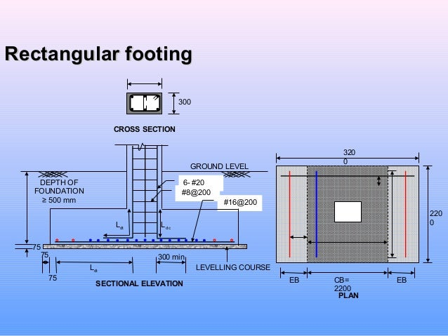 Design of mat and combined footing