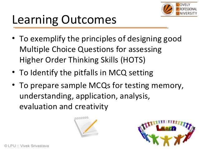 Design of multiple choice questions