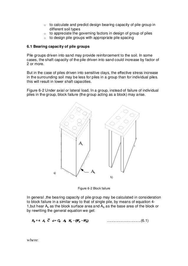 Design of pile foundation