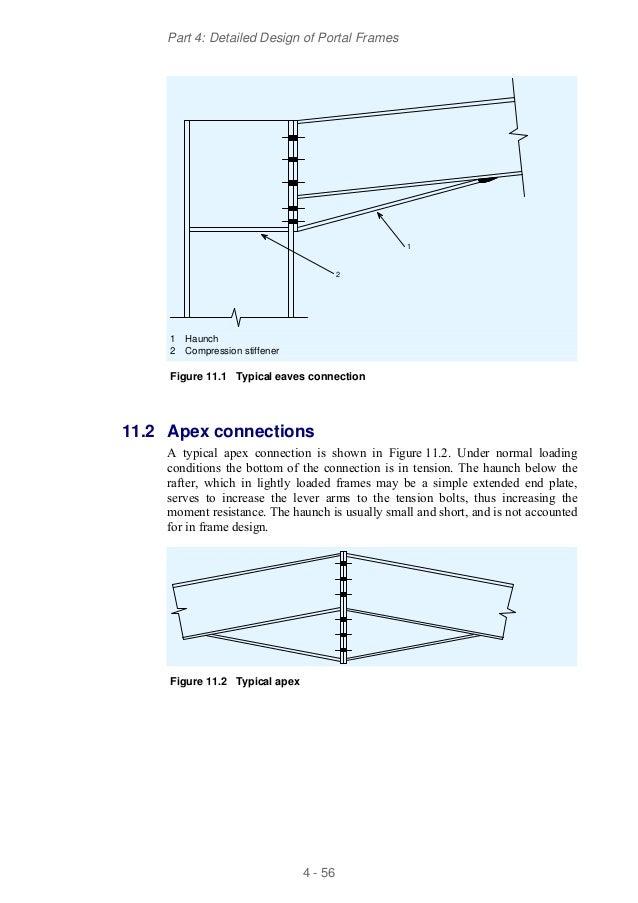 Design of portal frame structures