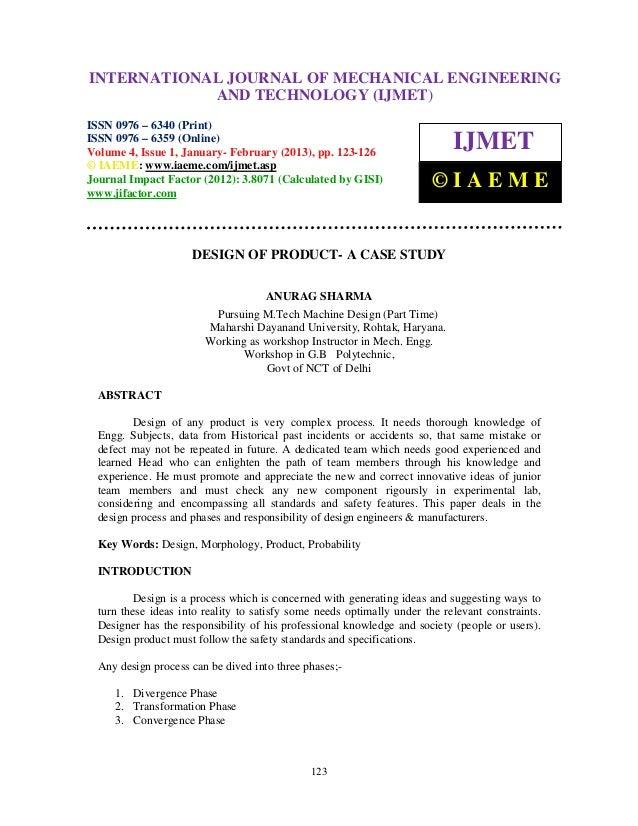 Mechanical Engineering Case Studies