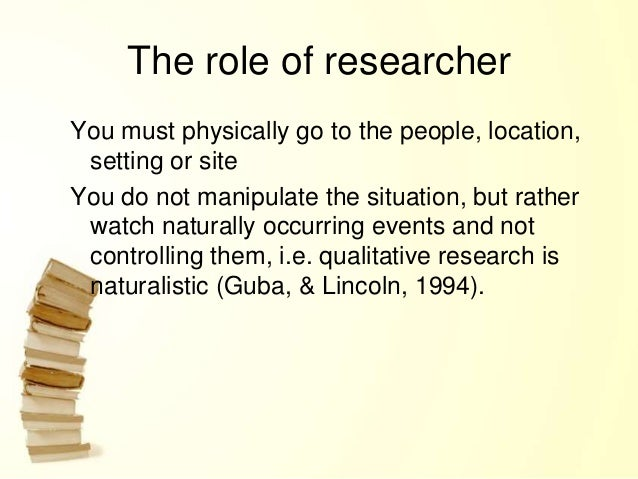 a discussion of the role of participant observation to research Start studying soci 4 chap 9  a role in participant observation in which the researcher does  a role in field research in which the researcher does.