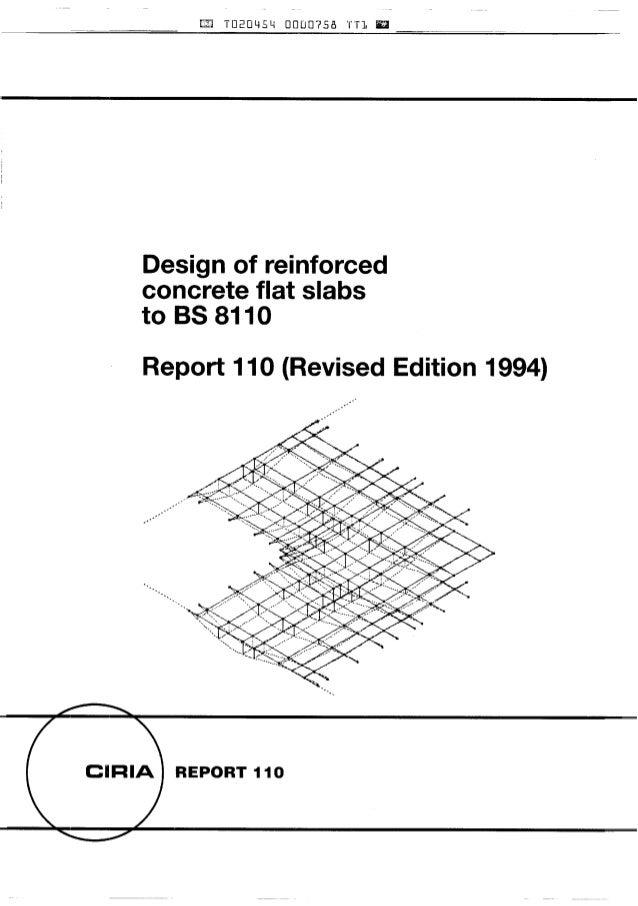 design of reinforced flat slabs to bs 8110 ciria 110 rh slideshare net Concrete Drop Panel Flat Slab Design Strip