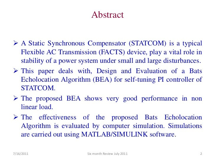 statcom thesis Ge power conversion svc and statcom (static var compensator and static synchronous compensator) proven power electronics technology to strengthen.