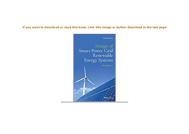 Download P D F Design Of Smart Power Grid Renewable Energy Sys