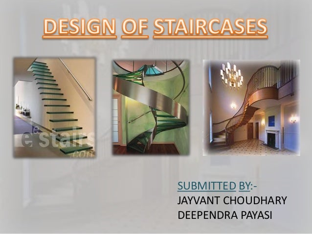 Design of staircases for Rcc home show