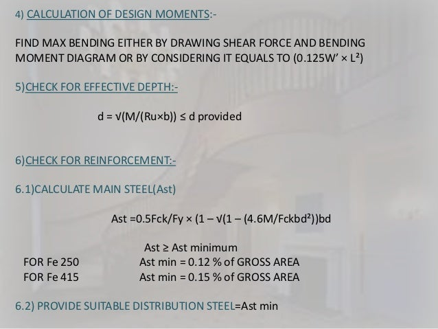 Design of staircases