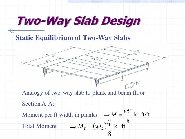 Design Of Two Way Slabs D D M