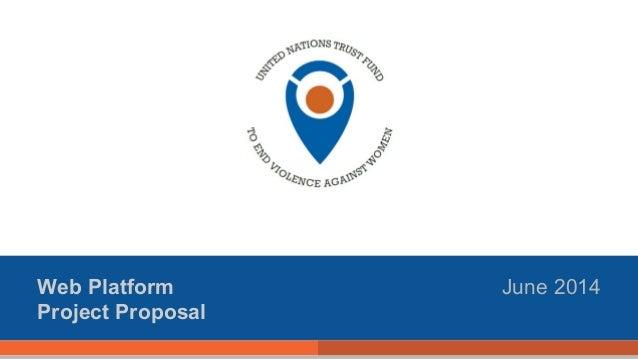 Web Platform Project Proposal June 2014