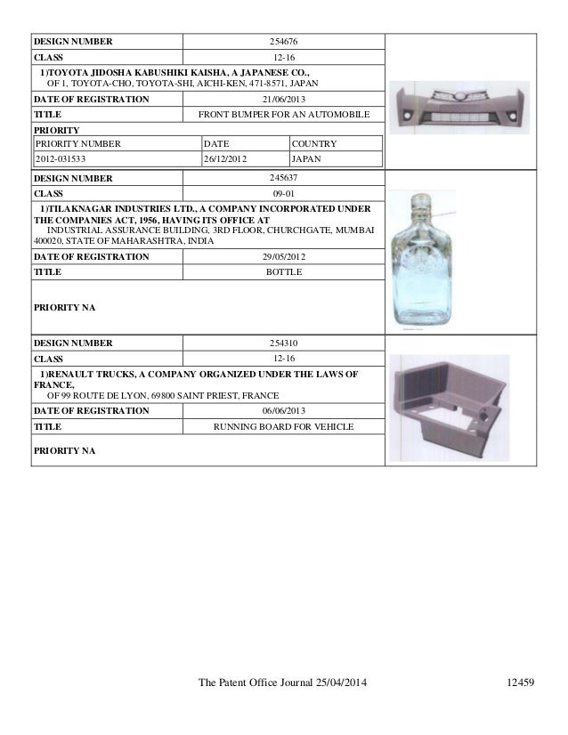 Design Patent Publication In India By Intellectual